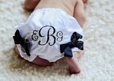 Monogrammed Bloomers You Choose Thread Color by CharBellaDesign