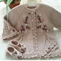 Photo # Description # none. Crochet Baby Cardigan, Knit Baby Sweaters, Knitted Baby Clothes, Baby Dress Patterns, Vintage Dress Patterns, Baby Knitting Patterns, Little Girl Outfits, Kids Outfits, Knitting Baby Girl