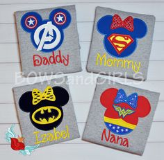 Family Cruise Parks Disney Mouse Ears Applique by bowsandgirls …