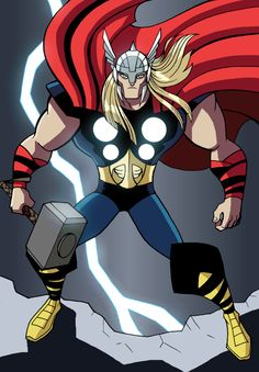 Thor by LucianoVecchio on DeviantArt Comic Book Heroes, Comic Books Art, Comic Art, Book Art, Marvel Fan, Marvel Comics, The Mighty Thor, Comic Character, Wolverine