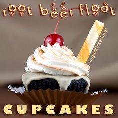 Cupcake Recipes : Root Beer Float Cupcakes