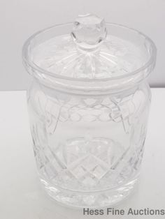 Vintage Rogaska Art Glass Crystal Canister Jar Container #Rogaska