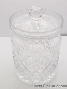 Vintage Rogaska Art Glass Crystal Canister Jar Container #Rogaska