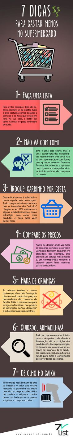 Os produtos nos supermercados sofreram alguns reajustes, bem salgados por sinal. Por isso o Seven List separou 7 dicas para gastar menos no supermercado.