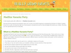 Really Grand Events with a new twist on Kids Karaoke v. Stars in Their Eyes v. X Factor. Karaoke Party, School Parties, Party Entertainment, Childrens Party, 20 Years, Events, Entertaining, Stars, My Love