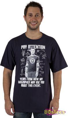 Big Bang Theory Shirt Pay Attention