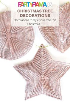 Beautiful Christmas tree decorations for your tree this Christmas, along with many other ideas to give your tree a bit of sparkle. Christmas Tree Decorations, Table Decorations, Glitter Roses, Beautiful Christmas Trees, Shape Design, Star Shape, Decorating Your Home, Party Supplies, Gold