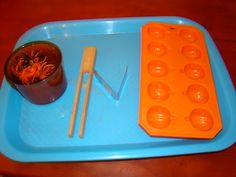 Parenting In The Moment: Halloween Practical Life and Sensorial Trays