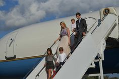 Ivanka Trump and husband Jared Kushner step off Air Force One with their children on September 15, 2017 in Morristown, New Jersey. US President Donal Trump, advisors and family are spending the weekend at Trump's Bedminster, New Jersey golf club. / AFP PHOTO / MANDEL NGAN        (Photo credit should read MANDEL NGAN/AFP/Getty Images) via @AOL_Lifestyle Read more: https://www.aol.com/article/lifestyle/2017/08/31/ivanka-trump-first-daughter-style/23192457/?a_dgi=aolshare_pinterest#fullscreen