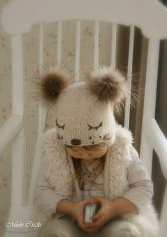 KNITTING PATTERN for kids ear flap hat Snow Dog with от MukiCrafts
