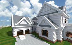 Georgian Home minecraft house design build ideas 2 ...