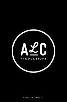Brand identity for a production company. Simple circle logo with unique handwritten font, modern.
