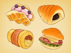 Bread Illustrations
