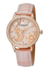 Anchor/ nautical pearl pink watch
