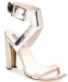 BCBGMAXAZRIA metallic sandal