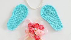 ♥ Crochet booties Tutorial 1♥ Вяжем крючком пинетки. Часть 1 - Подошвы ♥...