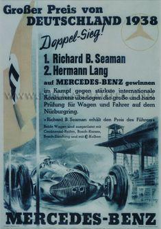 'Mercedes Benz-Grosser Preis von Deutschland, 1938' poster