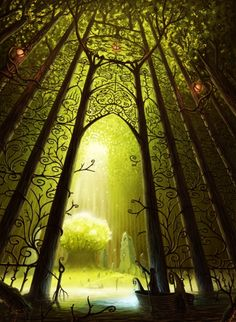 ☆ Entrance To The Sacred Tree .. By Industrial-Forest ☆