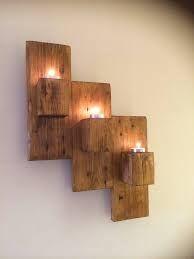 Image result for pallet block candle holder