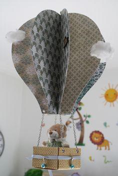 Scrapbooking - Tutoriel Montgolfiere mobile pour chambre de bébé
