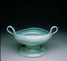 Geoffrey Wheeler, Compote, soda-fired porcelain - Bray residency early 90's