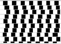 Acredite, as linhas horizontais são paralelas. Pode pegar uma régua ou um caderno e ver você mesmo. O cérebro enxerga as linhas tornas por c...