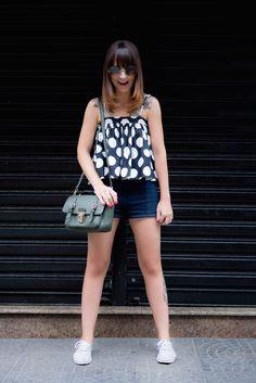 Blusa de bolinhas P&B | Danielle Noce