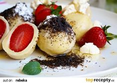 Hebké ovocné knedlíky recept - TopRecepty.cz Czech Recipes, Ethnic Recipes, Eastern European Recipes, Candy Cookies, Keto Bread, Sweet And Salty, Great Recipes, Cheesecake, Food And Drink