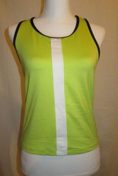 Champion-C9-Running-Athletic-Fitness-Tank-Built-in-Bra-Lime-Green-Size-Large