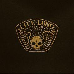 LIFE LONG SUPPLY Typography Logo, Logo Branding, Branding Design, Lettering, Typography Inspiration, Logo Design Inspiration, Custom Logo Design, Graphic Design, Education Logo