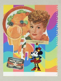 """Eduardo Paolozzi's """"Meet the People"""" - screenprint and lithograph on paper - 1972"""