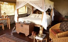 Award-winning Campi ya Kanzi is a luxury ecotourism lodge in the beautiful Chyulu Hills of Kenya. Experience our classic safari in a unique and private wilderness setting. Camping Glamping, Luxury Camping, Luxury Travel, Living Tv, Luxury Tents, Luxury Resorts, British Colonial Style, Decoration, Interior Design