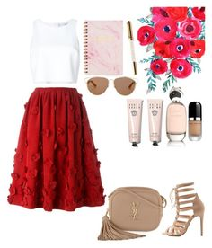 """Floral skirt."" by agnesenapoli on Polyvore featuring Michael Kors, Carolina Herrera, Yves Saint Laurent, Charlotte Russe, Marc Jacobs, Comme des Garçons, Bobbi Brown Cosmetics and Christian Dior"