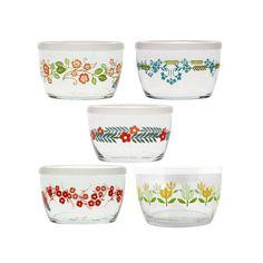 Vintage-Style Floral Storage Bowls