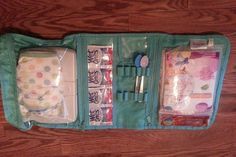 Thirty One timeless beauty bag- Folds flat for use on the go with diapers, wipes & more! Love this!