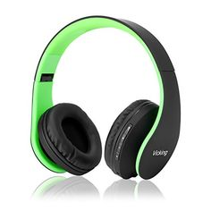 Save 50% on AMAZON with code RF7UW2MF Pinned on 9/26/2018 Bluetooth Headphones, Dami Wireless Over Ear Headsets w/Built-in Microphone, Foldable, Soft Memory-Protein Earmuffs, and Wired Mode for PC, Cell Phones, TV in Green Color Wireless Headset, Bluetooth Headphones, Beats Headphones, Over Ear Headphones, Electronic Deals, Earmuffs, Sd Card, Green Colors, Protein