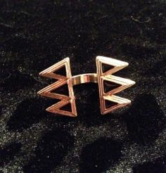 Gold & Black Aztec Inspired Ring for sale at Glamhairus.com