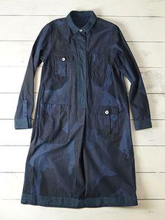 【AW15 WOMAN】リバーシブル カモ ドレス / REVERSIBLE CAMO DRESS Collection ナイジェルケーボンウーマン Nigel Cabourn WOMAN 公式サイト
