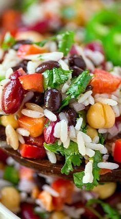 Three Bean Wild Rice Salad
