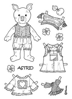 Karen`s Paper Dolls: Astrid 1-4 Paper Doll to Print and Colour. Astrid 1-4…