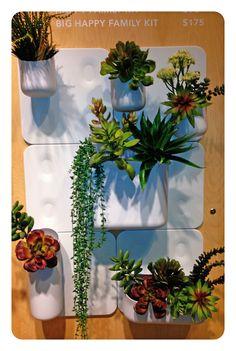 Urbio wall-hung planter/organizer at @Eileen Quigg Furniture. http://www.eq3.com/ca/en/p27214/big-happy-family-kit