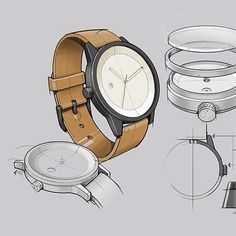 Katapult Design (@katapult.design) :  Detailed concept illustrations to help define the look and feel of each @simplewatchco watch.…