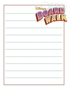 """Boardwalk - WDW - Project Life Journal Card - Scrapbooking ~~~~~~~~~ Size: 3x4"""" @ 300 dpi. This card is **Personal use only - NOT for sale/resale** Logo/clipart belong to Disney. *** Click through to photobucket for more versions of this card ***"""