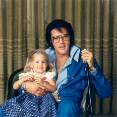 Lisa Marie & Elvis - at their Hillcrest home in Los Angeles on December 10, 1970