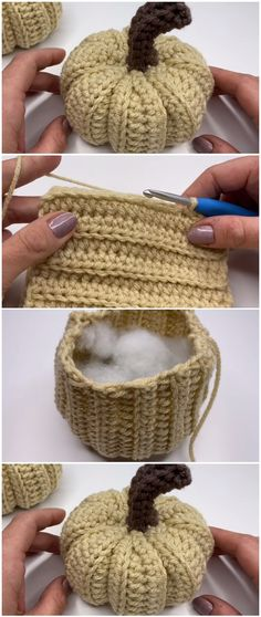 Crochet Fall Decor, Holiday Crochet, Halloween Crochet, Crochet Home, Crochet Crafts, Yarn Crafts, Easy Crochet, Crochet Projects, Free Crochet