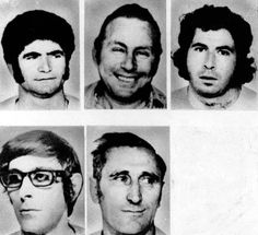 These are stock portraits of five of the Israelis held hostage by Arab terrorists at the Olympic Village in Munich, Germany, on Sept. 5, 1972. In the top row, from left, are: Joseph Romano, weightlifter; Amitzur Shapira, athletics coach; and David Berger, weightlifter. In bottom row, from left are, Andre Spitzer, fencing coach; and Kehat Shorr, marksmanship coach. It is reported that the second Israeli killed was Romano.