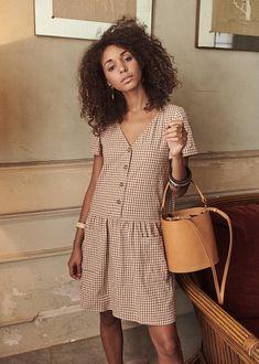 Sézane - Lena Dress Summer Outfits, Casual Outfits, Fashion Outfits, Fashion Models, Fashion Beauty, Dress Making Patterns, Blouse Dress, Parisian Style, Wedding Suits