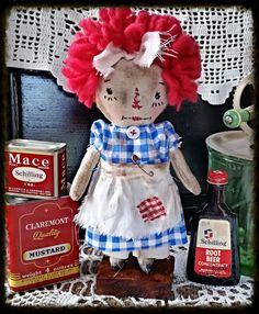 Cloth Doll PRIMITIVE Rag Doll Rag Doll by WhisperingGypsy