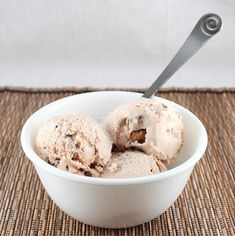 Moose Tracks Ice Cream (Low Carb, Gluten Free, and Dairy Free) via Living Low Carb...One Day at a Time