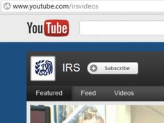 Internal Revenue Service tax tips on YouTube. Check out these IRS videos. Visit youtube.com/irsvideos